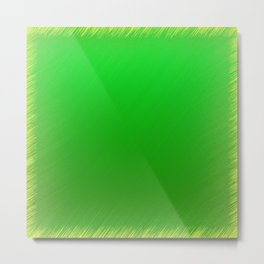 Bright Green Stitch Metal Print