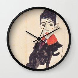 Egon Schiele / Knabenbildnis Erich Lederer Wall Clock