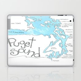 Puget Sound by Seattle Artist Mary Klump Laptop & iPad Skin