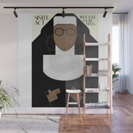 Sister Act, minimal Movie Poster, classic comedy film, funny, Whoopi Golberg, american cinema Wall Mural