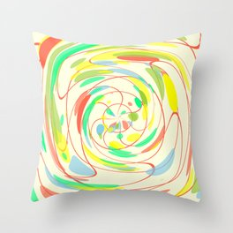 Bright colors abstract Throw Pillow