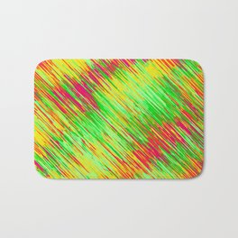 green red yellow geometric graffiti painting texture abstract background Bath Mat