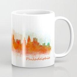 Philadelphia City Skyline Hq V3 Coffee Mug