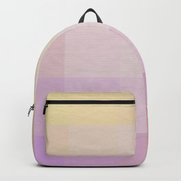 Pixel Gradient between Soft Yellow and Grayish Red Backpack