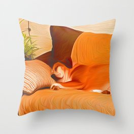 Lucy Sleeping West Throw Pillow
