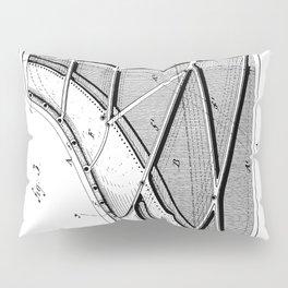 Steinway Piano Patent - Piano Player Art - Black And White Pillow Sham