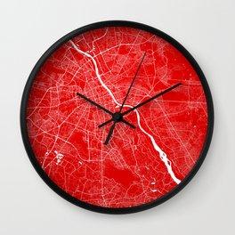 Warszawa map Wall Clock