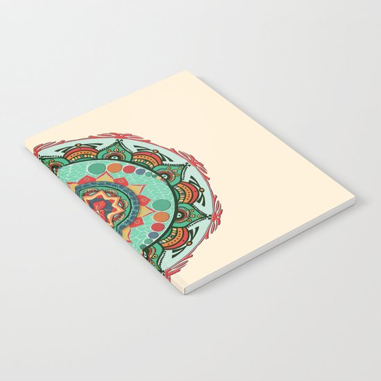 Heart Light Multicolor Mandala Notebook