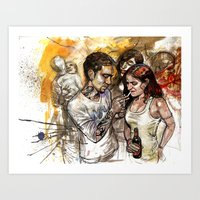 rave Art Prints featuring rave by Satish Gangaiah