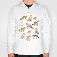 Hoodies featuring Foxes by Amy Hamilton