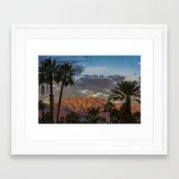coachella Framed Art Prints featuring Coachella Sky  by Jay Hooker Designs