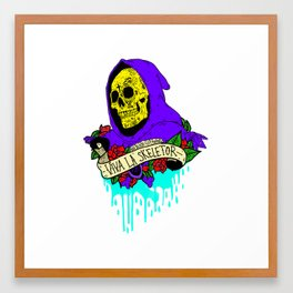 Viva La Skeletor Framed Art Print