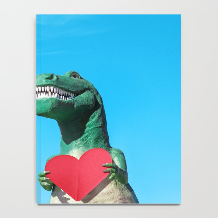 Tiny Arms, Big Heart: Tyrannosaurus Rex with Red Heart Notebook