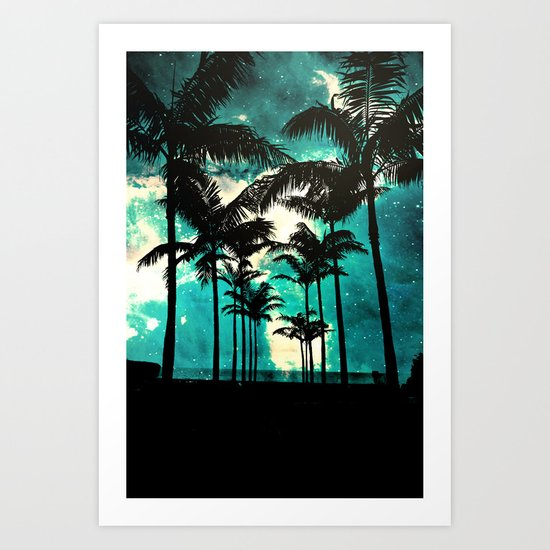 Palm Trees & Stars Art Print