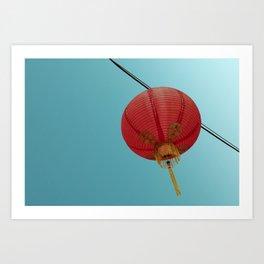 Chinese Lantern in Chinatown LA Art Print