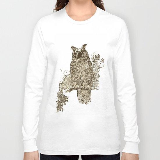 Vintage Owl Long Sleeve T-shirt