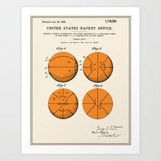 Basketball Patent Art Print