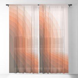 Desert Dusk Halfbow Sheer Curtain
