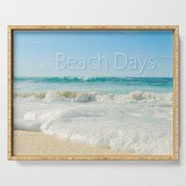 beach days Serving Tray