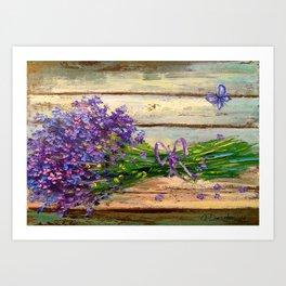 Bouquet of lavender Art Print