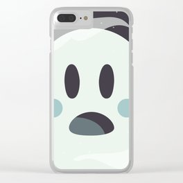 Surprised Ghosty Clear iPhone Case