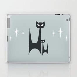 Mid Century Atomic Blue Cats Laptop & iPad Skin