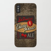 ale giorgini iPhone & iPod Cases featuring Cherry Wheat Ale by La Femina Brewing Co.