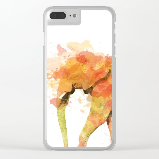 Positive elephant Clear iPhone Case