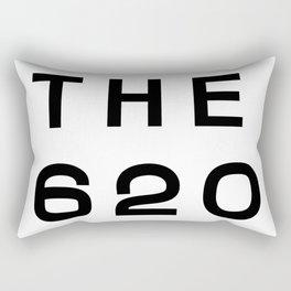 620 Kansas Area Code Typography Rectangular Pillow