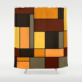 Mondrian Autumn Shower Curtain