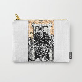 Modern Tarot Design - 4 The Emperor Carry-All Pouch