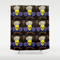chef Shower Curtains featuring chef by Albano Juliano