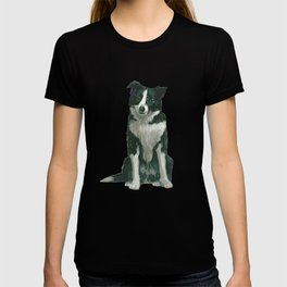 border collie - by phil art guy T-shirt