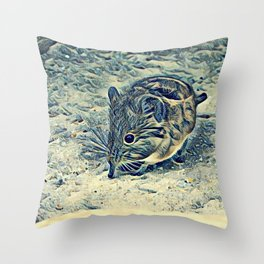 elephant shrew (Macroscelididae) Throw Pillow