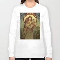 mother Long Sleeve T-shirts featuring Mother by Natasa Ilincic