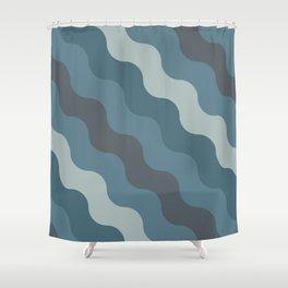 Blueprint Pattern N1 Shower Curtain