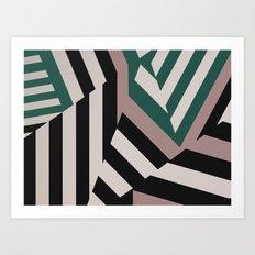 ASDIC/SONAR Dazzle Camouflage Graphic Design Art Print