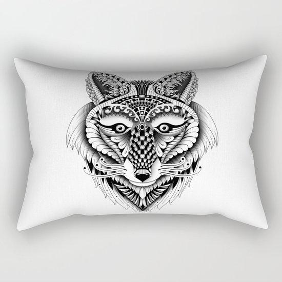 Ornate Foxy Wolf Rectangular Pillow