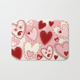 Valentine Romantic Sweet Hearts  Bath Mat