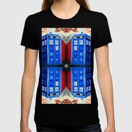British Blue Police Public Call Box - 1111 Mirror T-shirt