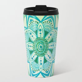 Simpe Blue/Green Mandala Travel Mug