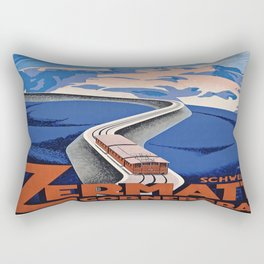 Vintage poster - Zermatt Rectangular Pillow