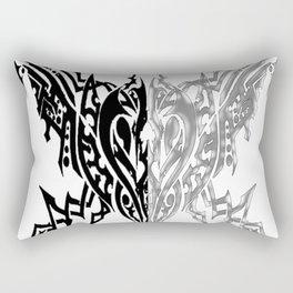 Tribal Arachne Plated and Black Rectangular Pillow