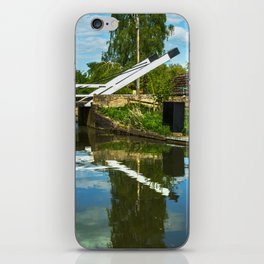 Aubreys Lift Bridge  At Thrupp iPhone Skin