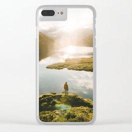 Switzerland Mountain Lake Sunrise - Landscape Photography Clear iPhone Case