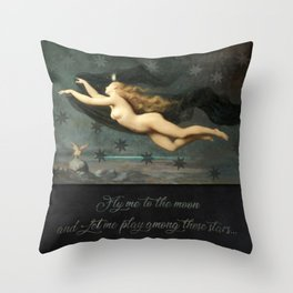 """Fly me to the moon"" Throw Pillow"