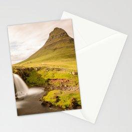 KIRKJUFELL MOUNTAIN & WATERFALL IN SUMMER ICELAND LANDSCAPE Stationery Cards