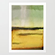 Three Lines Abstract Sunset  Art Print