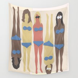 Beach Babes Paper Dolls Wall Tapestry