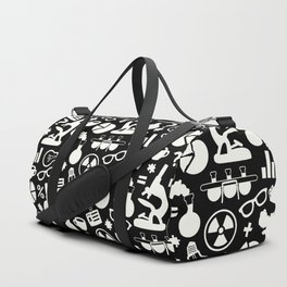Black and White Science Pattern Duffle Bag